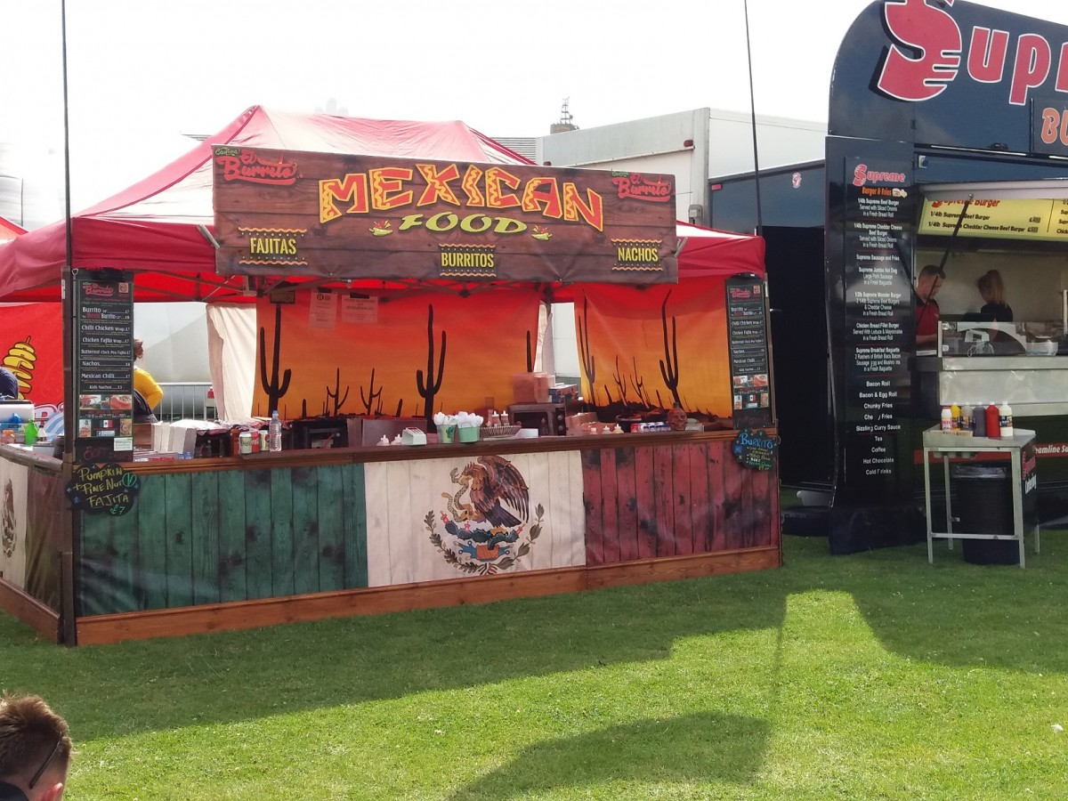 mexican street food stand