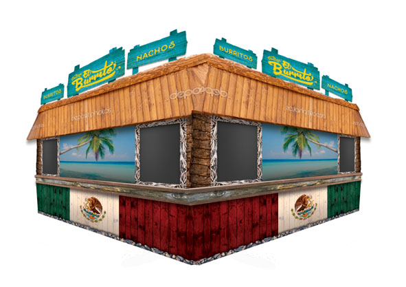 cantina el burrito beach shack food stand
